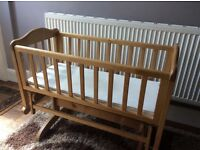 Deluxe glider crib/ cradle with mattress