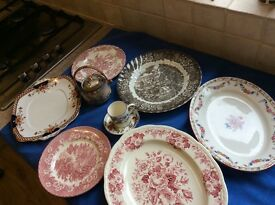 Oval platers and plates vintage