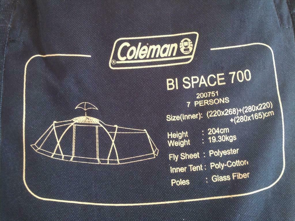 Coleman Bi Space 700 Family Tent In Portsmouth