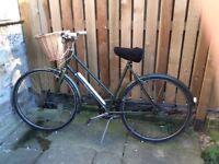 Vintage hurcules ladies bicycle