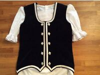 HIGHLAND DANCING WAISTCOAT - £99, BLOUSE - £15. AS NEW
