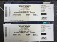 Russell Howard tickets- Leeds First Direct Arena, 9th April.