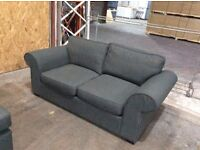 Linden 2 Seat Grey Fabric Sofa - Ex Display - £199 Including Free Local Delivery