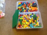 Lego Duplo huge mix of pieces, boards, figures, accessories
