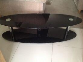 Large Black Glass T.V. Stand £30