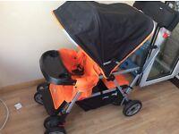 Joovy Caboose Ultralight Double Buggy / Stroller - Orange