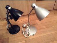 Desk lamp x2 new from tesco