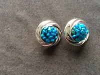 Aqua/Silver Coloured Earrings