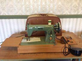 "An ""ALFA"" Sewing Machine. Straight Stitch, in VGH. Serviced."