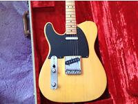 Fender American Vintage '52 Telecaster Electric Guitar Butterscotch Blonde Left Handed