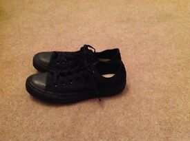 All black converse shoes
