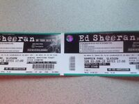 Ed Sheeran tickets x 2 at Hampden Park Glasgow 3/6/18