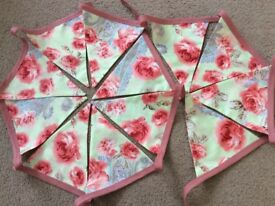 3 Metres of Double Sided Floral Bunting.