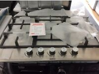 Stainless steel gas hob new/graded 12 months gtee