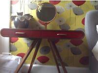 Fonteyn Walnut Dressing Table with Red Drawers