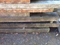 Wooden railway sleepers x 8