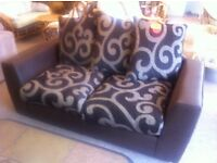BRAND NEW!!! New line, 3 seater brown leather settee sofa bed comfortable modern design, never used