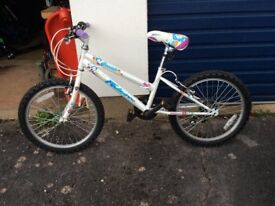 "Child's bike excellent condition. 20"" wheels."