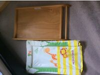 Changing unit, cot top changer, wood, changing station+mothercare mat