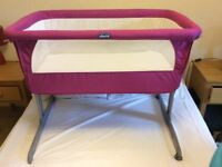 For Sale: CHICCO NEXT TO ME CRIB - Pink/Fuchsia
