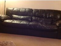 3/4 seater leather sofa and a 2 Seater leather sofa in good condition