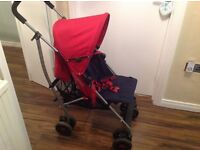 Mamas & Papas pushchair/buggy with raincover & footmuff