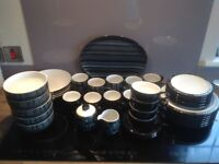 Denby Jet dinnerware, cups and mugs