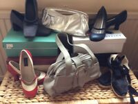 Ladies shoes and handbags, all shoes are size 5 and all in very good condition ,