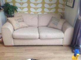 M&S Marks and Spencer 2/3 str sofabed (metal action), natural colour