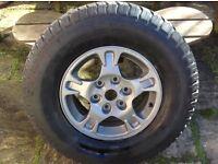 Mitsubishi alloy wheels with tyres shogun/ pajero
