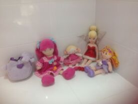 Collection of soft toys for girls
