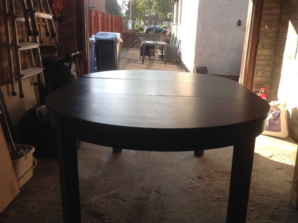 Ikea Bjursta Round Extendable Dining Table In Clydebank West