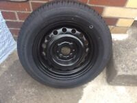 Brand new steel wheel and tyre to fit Fiat Panda.