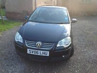 Volkswagen Polo, black, 3 doors, 16V 1.4 petrol engine, manual, 2006 plate