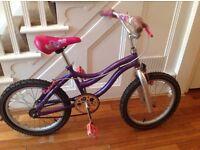 "18"" girls pink/purple bike"