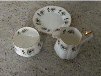 Trio bone china tea set