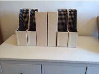 Set of 6 box files
