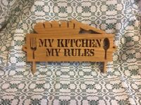 Solid Oak Kitchen Sign.