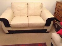 Leather 3 and 2 seater suite