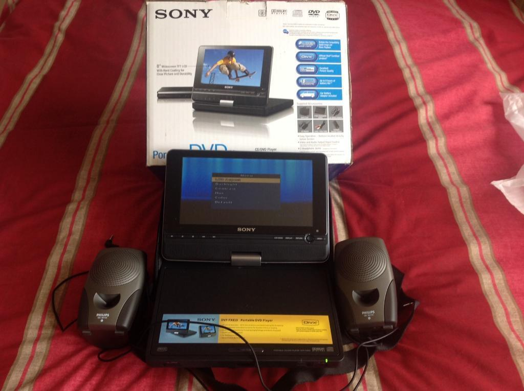 "Sony 8"" LCD Portable DVD Player"