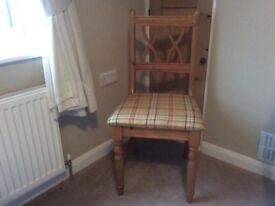 Pine bedroom chair