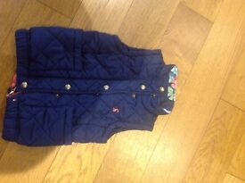 Girls joules gilet age 2