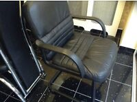 Faux leather chair (can deliver)