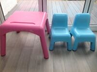 Elc/Mothercare plastic table and chairs in good condition