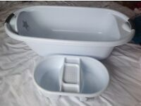 Baby bath with matching top n tail bowl