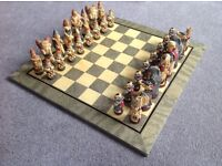 WARLORDS CHESS SET AND BOARD (crafted by Studio Ann Carlton)