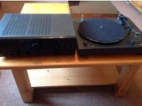 Hifi turntable and amp