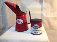 Vintage and Esso Oil Cans & Jug