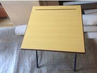 Folding desk in oak