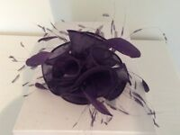Womens Fascinator - Purple